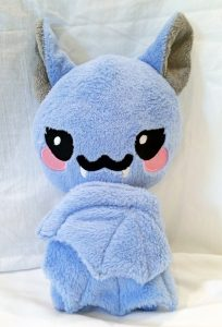cute soft blue bat plush