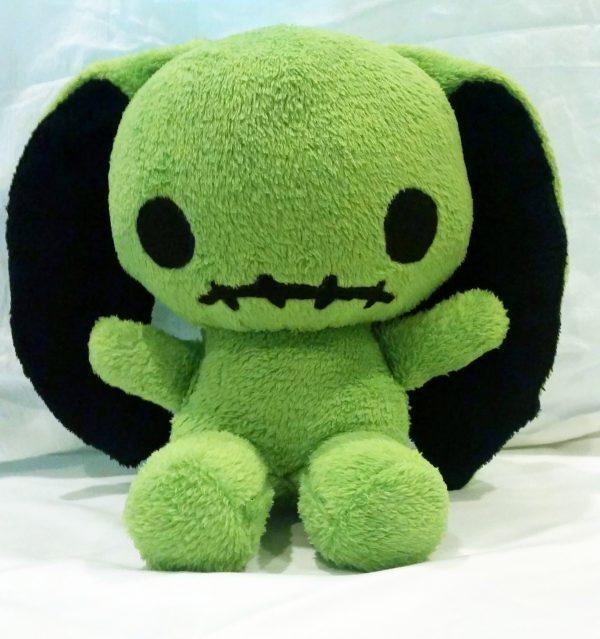 cute green bunny plush