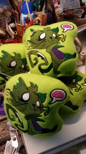 zombie kitty stuffed plushie