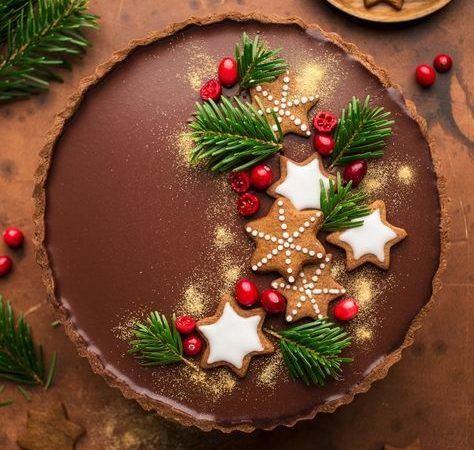 gingerbread-chocolate-tart
