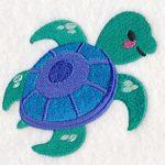 cute sea turtle embroidery