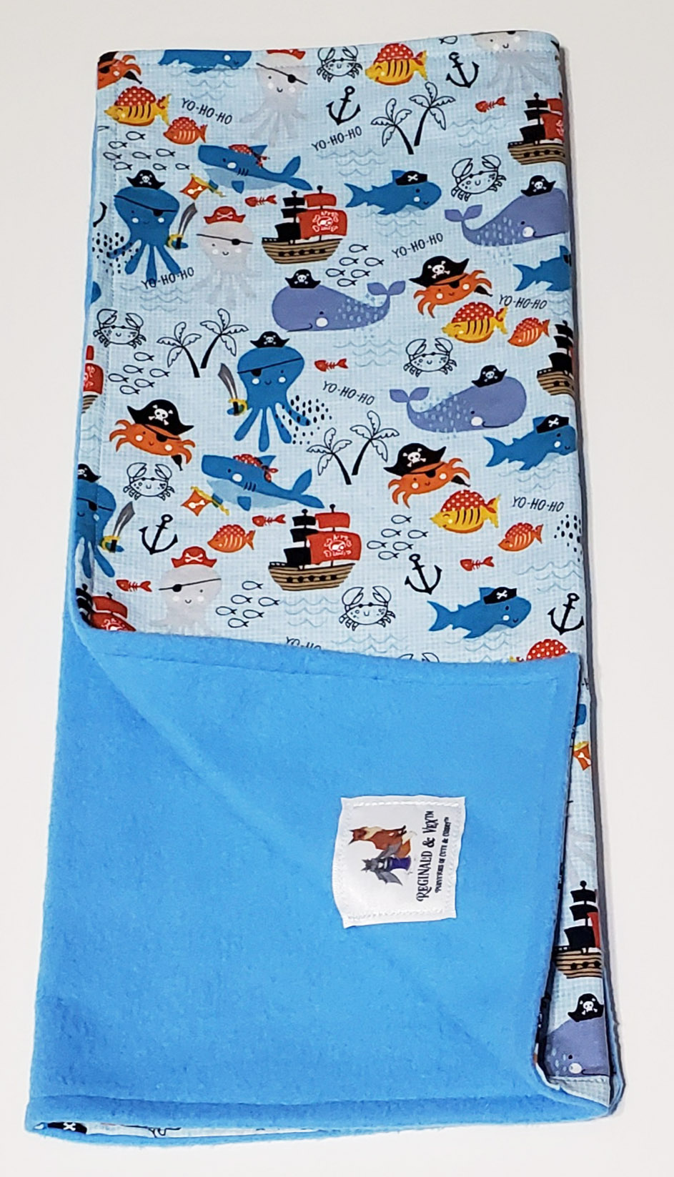 Sea Pirates tri fold burp cloth