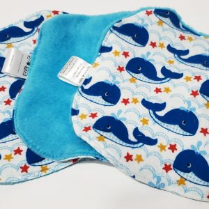 baby burp cloths whales