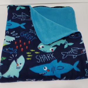 double sided shark blanket