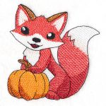 Fox with Pumpkin