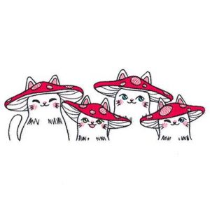 cute-embroidery-mushroom-cats