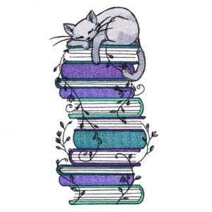 stacked-books-grey-cat-embroidery