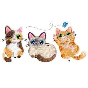 playful-kitties-trio-embroidery