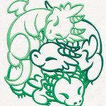cute-dragon-clutch-embroidery